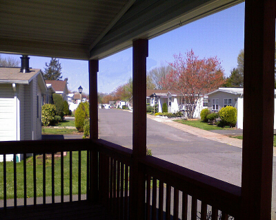 View from porch of 14633 National Drive